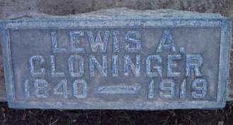 CLONINGER, LEWIS A. - Sutter County, California | LEWIS A. CLONINGER - California Gravestone Photos