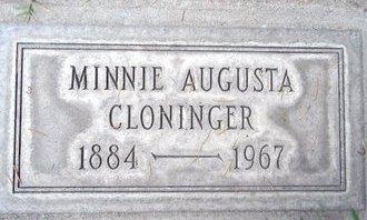 CLONINGER, MINNIE AUGUSTA - Sutter County, California   MINNIE AUGUSTA CLONINGER - California Gravestone Photos