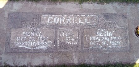 CORRELL, NECIA ISABELLE - Sutter County, California | NECIA ISABELLE CORRELL - California Gravestone Photos