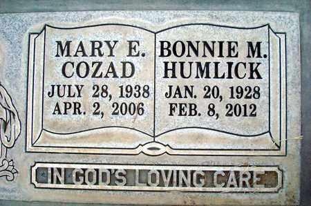 HUMLICK, BONNIE MAE - Sutter County, California | BONNIE MAE HUMLICK - California Gravestone Photos