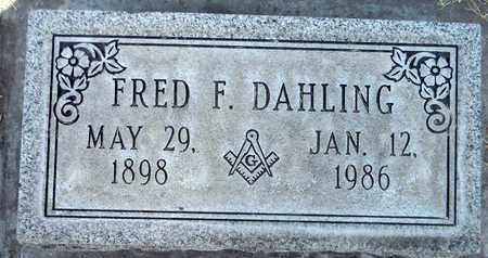 DAHLING, FRED F. - Sutter County, California | FRED F. DAHLING - California Gravestone Photos