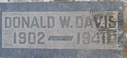 DAVIS, DONALD W. - Sutter County, California   DONALD W. DAVIS - California Gravestone Photos