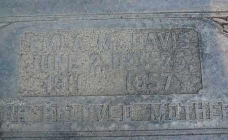 DAVIS, EMLA M. - Sutter County, California   EMLA M. DAVIS - California Gravestone Photos