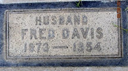 DAVIS, FRED F. - Sutter County, California | FRED F. DAVIS - California Gravestone Photos