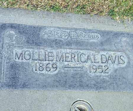 DAVIS, MOLLIE MERICAL - Sutter County, California | MOLLIE MERICAL DAVIS - California Gravestone Photos