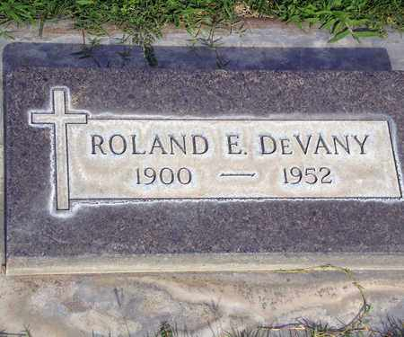 DE VANY, ROLAND EDMOND - Sutter County, California | ROLAND EDMOND DE VANY - California Gravestone Photos