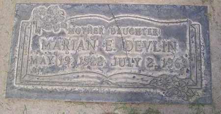 DEVLIN, MARIAN E. - Sutter County, California   MARIAN E. DEVLIN - California Gravestone Photos