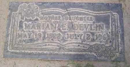 DEVLIN, MARIAN E. - Sutter County, California | MARIAN E. DEVLIN - California Gravestone Photos
