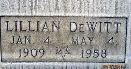 DEWITT, LILLIAN - Sutter County, California | LILLIAN DEWITT - California Gravestone Photos