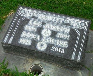 DEWITT, EDNA LOUISE - Sutter County, California   EDNA LOUISE DEWITT - California Gravestone Photos