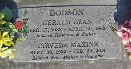 DODSON, CIRVEDA MAXINE - Sutter County, California   CIRVEDA MAXINE DODSON - California Gravestone Photos