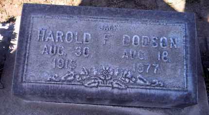 DODSON, HAROLD FREDERICK - Sutter County, California   HAROLD FREDERICK DODSON - California Gravestone Photos