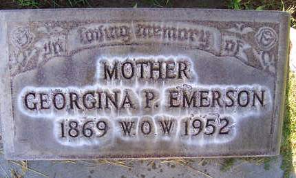 EMERSON, GEORGINA PARKER - Sutter County, California   GEORGINA PARKER EMERSON - California Gravestone Photos