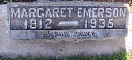 EMERSON, MARGARET - Sutter County, California | MARGARET EMERSON - California Gravestone Photos