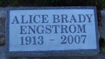 BRADY ENGSTROM, ALICE - Sutter County, California   ALICE BRADY ENGSTROM - California Gravestone Photos