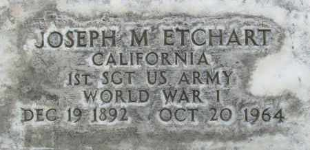 ETCHART, JOSEPH M. - Sutter County, California | JOSEPH M. ETCHART - California Gravestone Photos