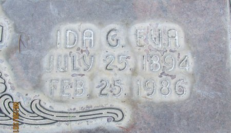 EVA, IDA G. - Sutter County, California | IDA G. EVA - California Gravestone Photos