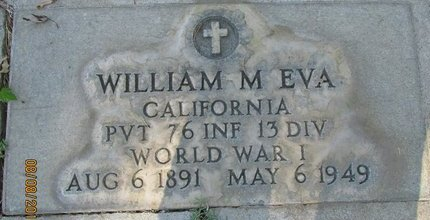 EVA, WILLIAM MELVIN - Sutter County, California | WILLIAM MELVIN EVA - California Gravestone Photos