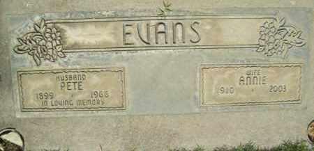 EVANS, ANNIE - Sutter County, California   ANNIE EVANS - California Gravestone Photos