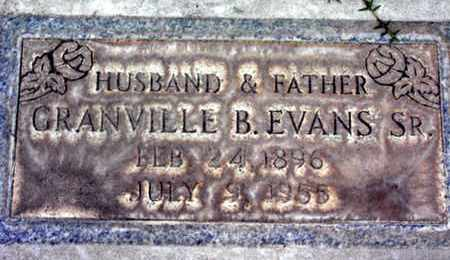 EVANS, SR., GRANVILLE BERTON - Sutter County, California | GRANVILLE BERTON EVANS, SR. - California Gravestone Photos