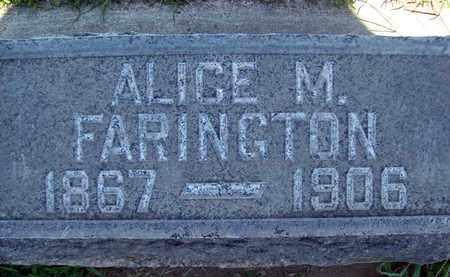 FARINGTON, ALICE M. - Sutter County, California | ALICE M. FARINGTON - California Gravestone Photos