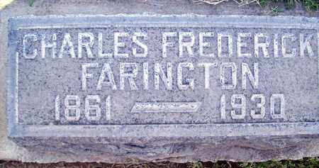 FARINGTON, CHARLES FREDERICK - Sutter County, California | CHARLES FREDERICK FARINGTON - California Gravestone Photos