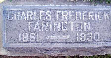 FARINGTON, CHARLES FREDERICK - Sutter County, California | CHARLES FREDERICK FARINGTON - California Gravestone Photos