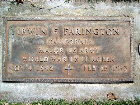 FARINGTON, IRWIN E. - Sutter County, California | IRWIN E. FARINGTON - California Gravestone Photos