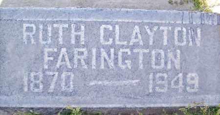FARINGTON, RUTH CLAYTON - Sutter County, California | RUTH CLAYTON FARINGTON - California Gravestone Photos