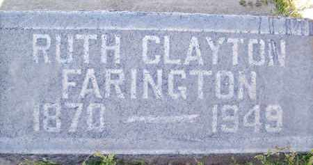 FARINGTON, RUTH CLAYTON - Sutter County, California | RUTH CLAYTON FARINGTON - California Gravestone Photos