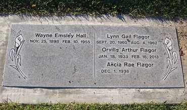 HALL, WAYNE EMSLEY - Sutter County, California | WAYNE EMSLEY HALL - California Gravestone Photos
