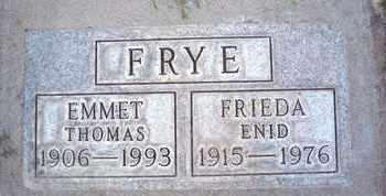 FRYE, EMMET THOMAS - Sutter County, California | EMMET THOMAS FRYE - California Gravestone Photos