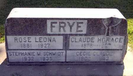 FRYE, CLAUDE HORACE - Sutter County, California | CLAUDE HORACE FRYE - California Gravestone Photos