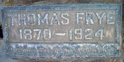 FRYE, THOMAS - Sutter County, California | THOMAS FRYE - California Gravestone Photos