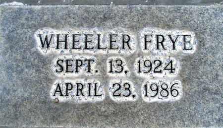 FRYE, WHEELER ULYSSES - Sutter County, California | WHEELER ULYSSES FRYE - California Gravestone Photos