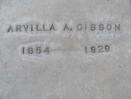 GIBSON, ARVILLA A. - Sutter County, California | ARVILLA A. GIBSON - California Gravestone Photos