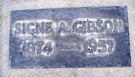 GIBSON, SIGNE A. - Sutter County, California | SIGNE A. GIBSON - California Gravestone Photos