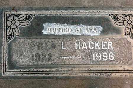 HACKER, FRED L. - Sutter County, California | FRED L. HACKER - California Gravestone Photos
