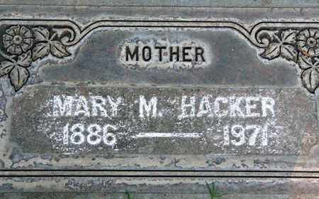 HACKER, MARY MARIE - Sutter County, California | MARY MARIE HACKER - California Gravestone Photos