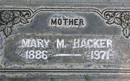 HACKER, MARY MARIE - Sutter County, California | MARY MARIE HACKER - California Gravestone Photos