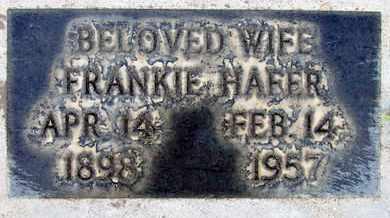 HAFER, FRANKIE - Sutter County, California   FRANKIE HAFER - California Gravestone Photos