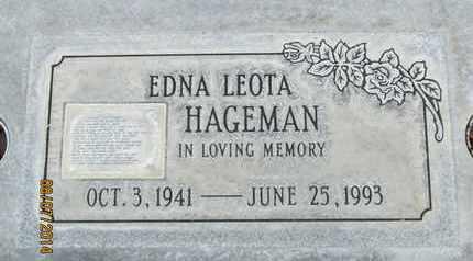 HAGEMAN, EDNA LEOTA - Sutter County, California | EDNA LEOTA HAGEMAN - California Gravestone Photos