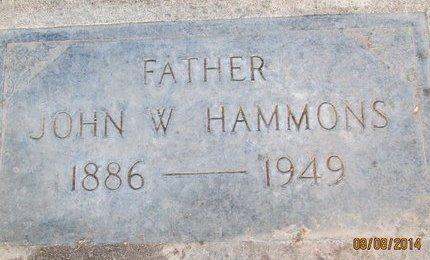 HAMMONS, JOHN WESLEY - Sutter County, California | JOHN WESLEY HAMMONS - California Gravestone Photos