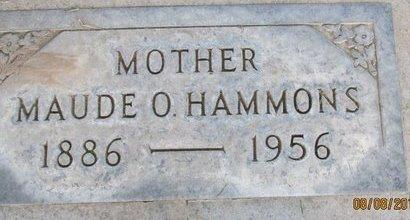 HAMMONS, MAUDE O. - Sutter County, California | MAUDE O. HAMMONS - California Gravestone Photos