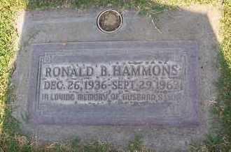 HAMMONS, RONALD BILLY - Sutter County, California   RONALD BILLY HAMMONS - California Gravestone Photos