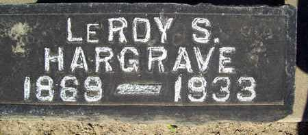 HARGRAVE, LEROY S. - Sutter County, California | LEROY S. HARGRAVE - California Gravestone Photos