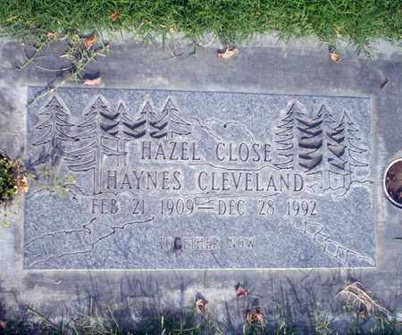 CLOSE HAYNES-CLEVELAND, HAZEL - Sutter County, California | HAZEL CLOSE HAYNES-CLEVELAND - California Gravestone Photos