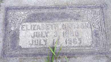 HUDSON, ELIZABETH - Sutter County, California | ELIZABETH HUDSON - California Gravestone Photos
