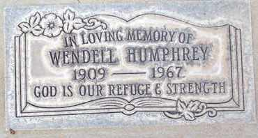 HUMPHREY, GEORGE WENDELL - Sutter County, California | GEORGE WENDELL HUMPHREY - California Gravestone Photos