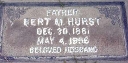 HURST, BERT MERLE - Sutter County, California   BERT MERLE HURST - California Gravestone Photos
